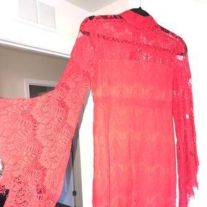 MINKPINK Red lace dress